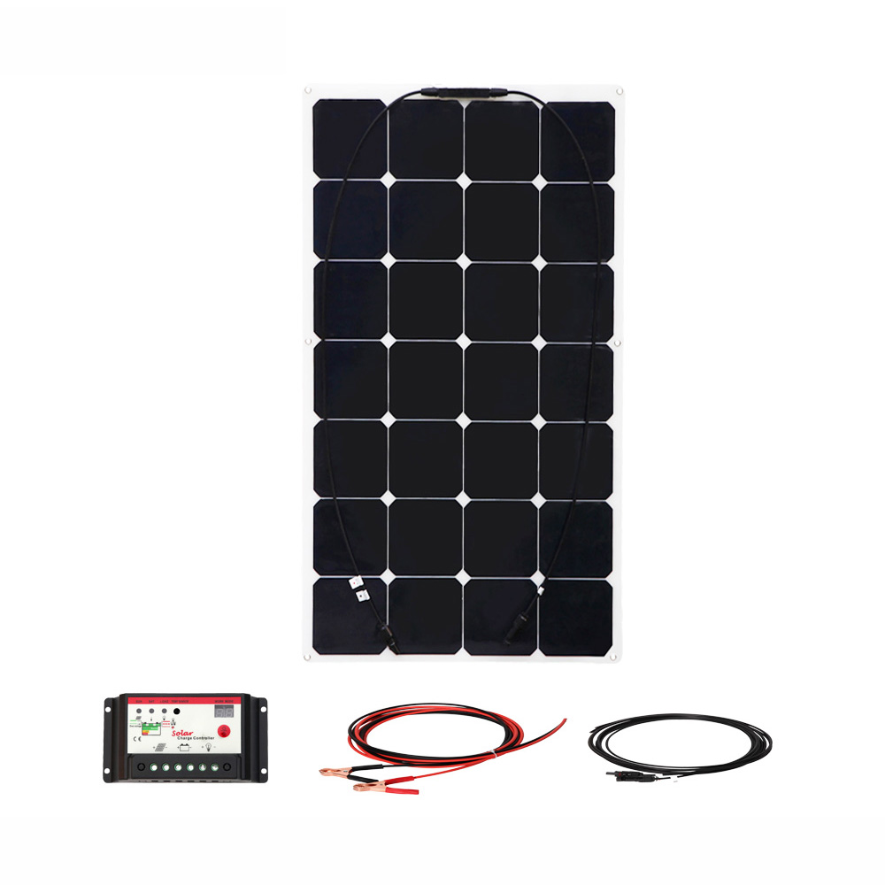 BOGUANG 85w flexible solar panel solar Power generation system cell 10A controller cable for RV yacht car 12v battery charge