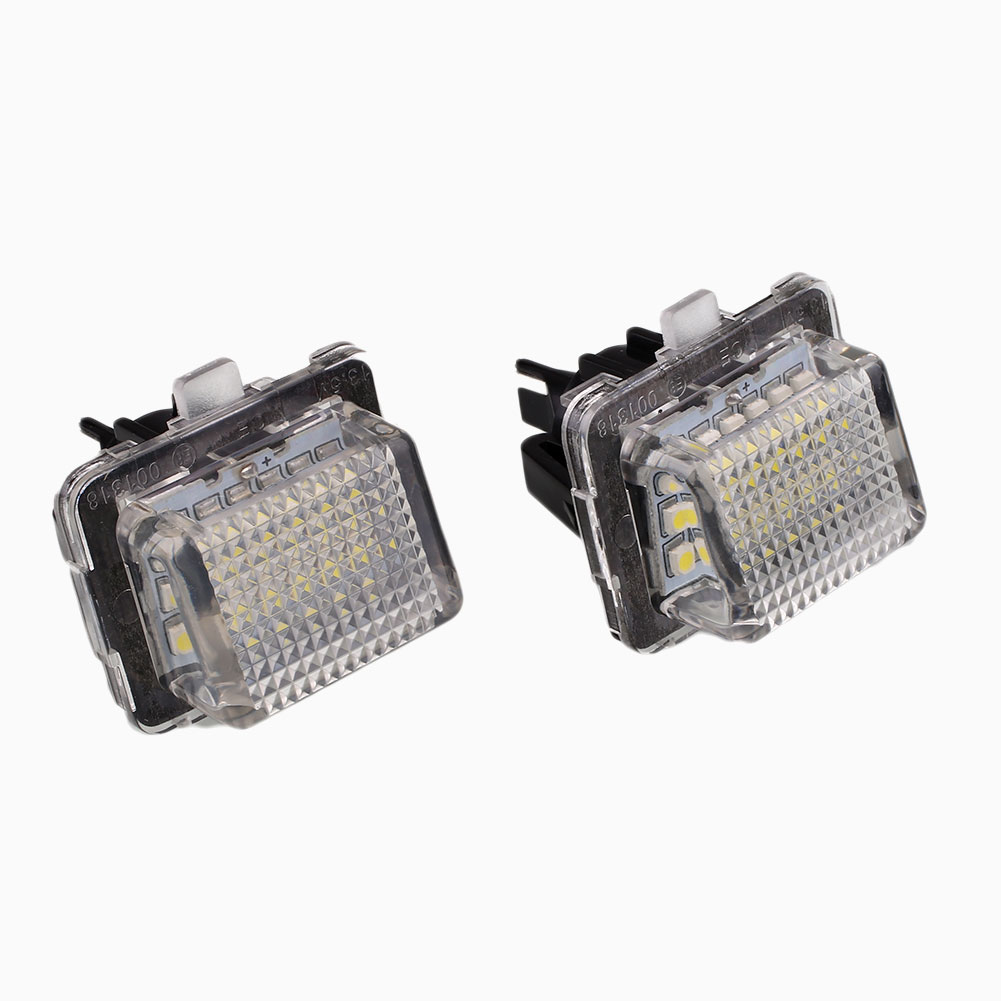 2 Pcs/lot 18 LED Number License Plate Light Lamp Error Free For Benz W221 C216 W204 hopstyling 2x error free 18smd for benz smart fortwo led license plate light car led number license plate lamp auto lighting