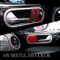 VW Beetle interior door handle frame cover surround panle trim moulding