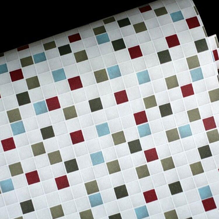 50 cm x 5 m grado superior blanco mosaico de papel de pared impermeable auto adhesivo.jpg