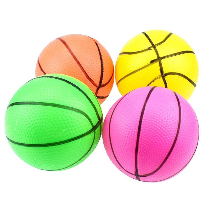 10cm Baby Kids Beach Pool Mini Inflatable Basketball Rubber Ball Toys Outdoor Kids Hand Wrist Exercise Ball For Kids Gift