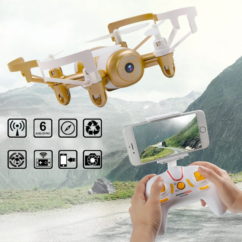 New Kids Toys Mini WiFi FPV RC Drone JXD 512DW 2.4G 6-axis 4CHwith HD Camera Gyro RC Quadcopter Altitude Hold Headless Drone toy jmt cg030 foldable 0 3mp camera drone wifi fpv 6 axis gyro altitude hold headless rc quadcopter mini drone app control rc dron