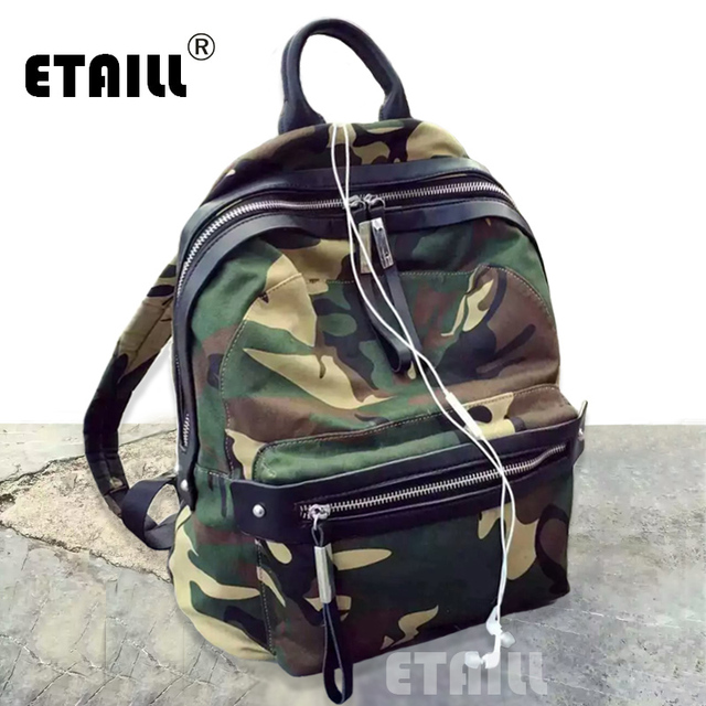 Camouflage Famous Brand Designer Backpack Canvas Women School Teenagers  Travel Bagpack Daypack Sac a Dos Femme Marque f88027bcb5c2d