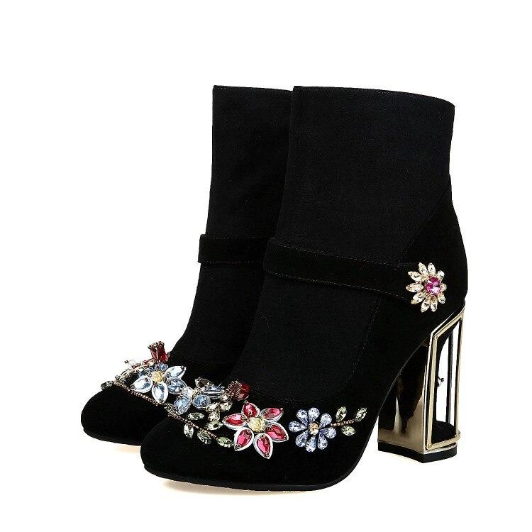 Ретро Стиль ботинки до середины икры обувь из натуральной кожи новинка 2018 г. на весну и зиму женские Винтаж сапоги ручной работы на молнии Же...