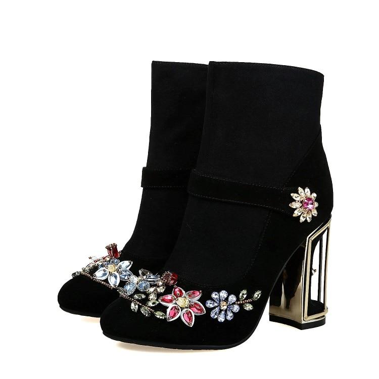 Rétro Style Mi-mollet Bottes Chaussures En Cuir Véritable 2018 Nouveau Printemps Hiver Femme Vintage À La Main Bottes Zipper Femmes Martin chaussures