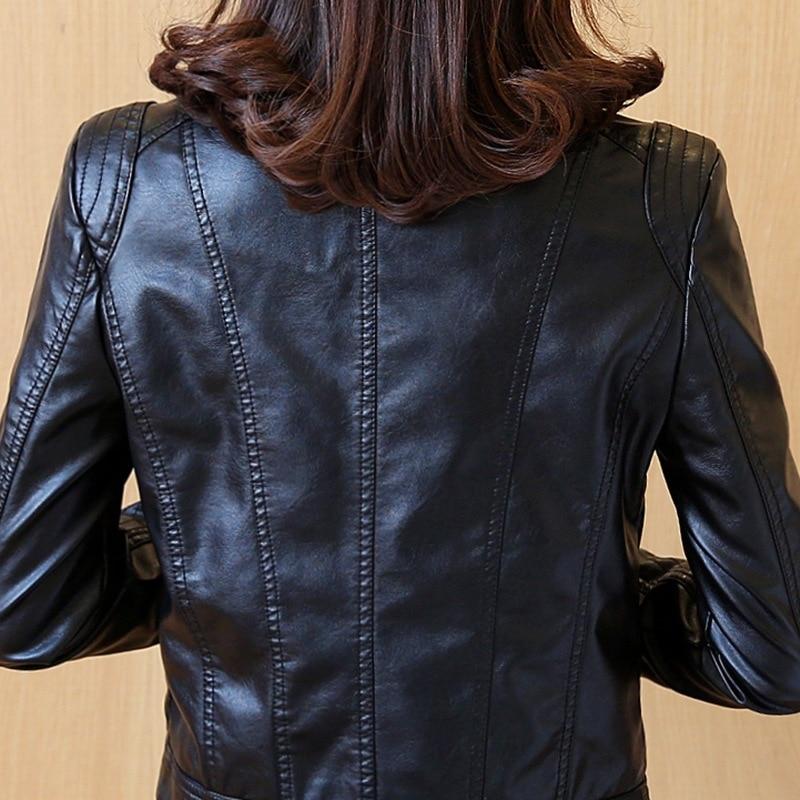 Pu Dames Veste La 2018 Slim Automne Cuir Grande Nouvelle Coréenne Court Version En Paragraphe Black De Taille Moto Et Printemps qwqfZ