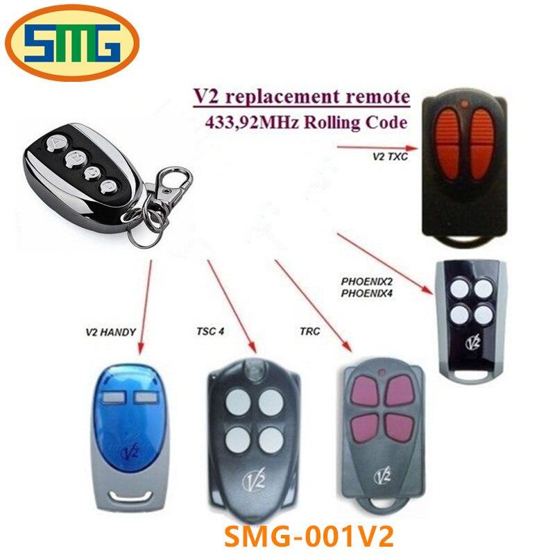 duplicator V2 433 92mhz rolling code remote control for gate garage door