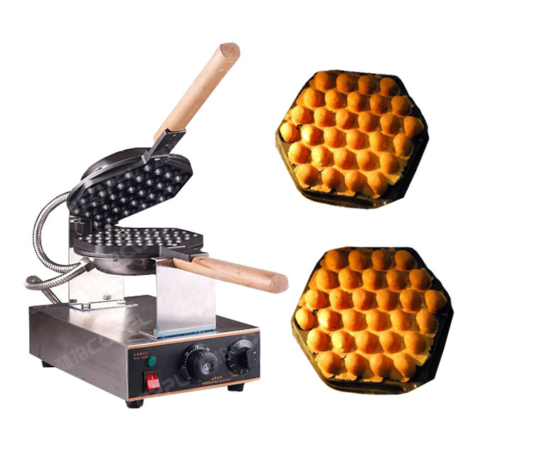 Free shipping 2 pcs/lots 110V 220V Egg puffs machine 180 rotating Non-stick Surface egg waffle maker waffle iron free shipping electric with recipe for waffle machine can 180 rotating 4 pcs