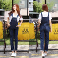 2017 Plus Size 3XL 4XL 5XL  Korean New Female Loose Denim Strap Trousers Jeans Jumpsuit Women Cute Denim Overalls
