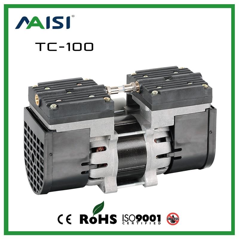110V/220V Micro Diaphragm Pump 60HZ AC Oilless Air Pump 24L/MIN two heads High Pressure Dental Air Pump for Sterilizer TC-100 adriatica часы adriatica 1191 52b3ch коллекция twin