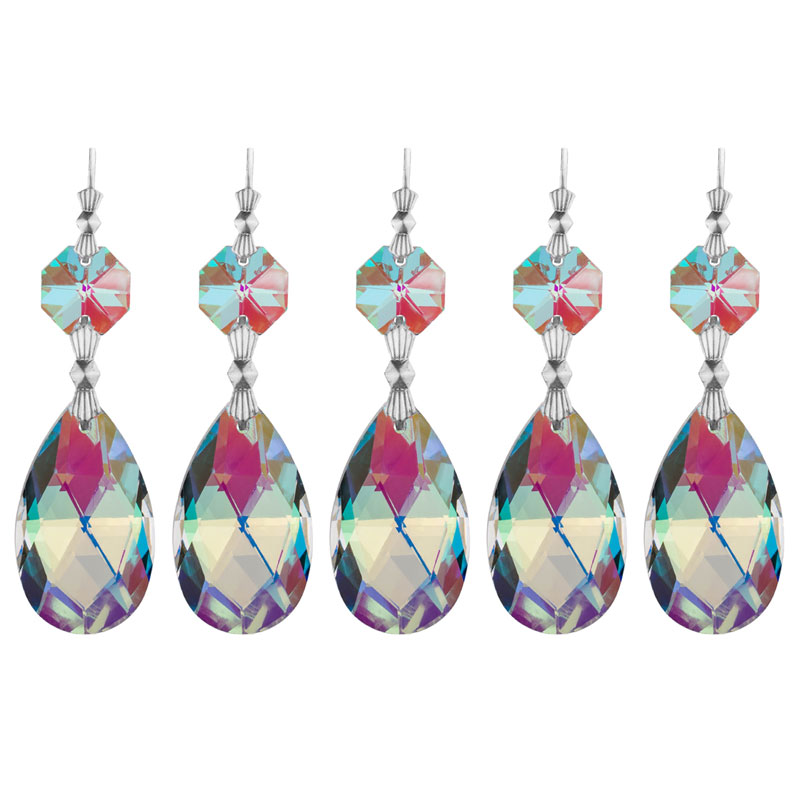 Crystal Chandelier Pendants Parts: H&D Chandelier Crystals,Mesh Shape Rainbow Crystal