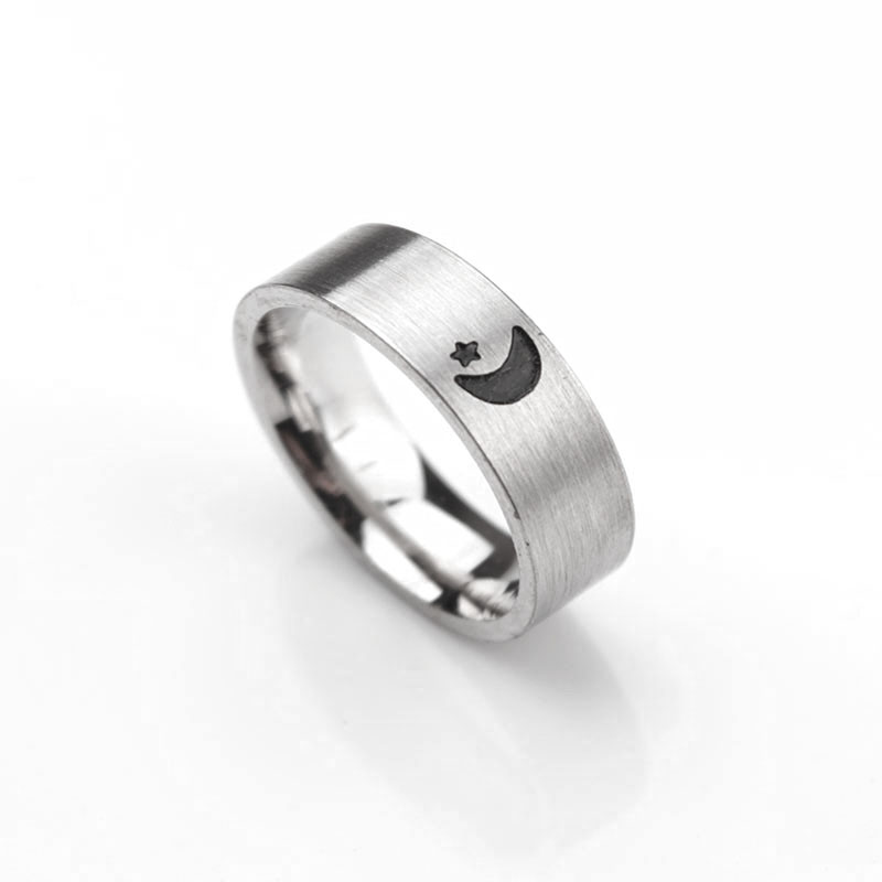 Cheap Wedding Rings Sets For Him And Her.Sun And Moon Simple Ring Couples Rings Set For Him And Her