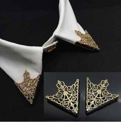 2017 Spille Abiti da Uomo E Gli Accessori Il Golden Palace Modello Retrò Cava Colletto Della Camicia Spilla Fibbia Triangolo Angolo