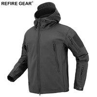 ReFire Gear Winter Soft Shell Windbreaker Fleece Jacket Men Outdoor Trekking Hunting Hiking Camping Waterproof Camo Jackets Men