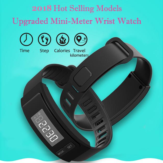 Fitness Tracker Watch Alarm Clock Step Run Step Watch Bracelet Pedometer Calorie Counter Sport Digital LCD Walking Distance#YY