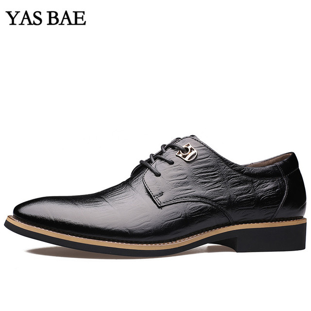 8e6d293c2c2e2 Male China Brand italian Fashion Style Leather Dress Office Social Formal  Shoe Patent Leather Black Brown Cheap Footwear for Men