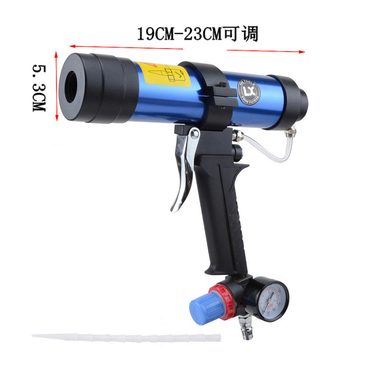 310ml 400ml 600ml handheld mini air portable glass caulking silicone gun Pneumatic glue glass gun