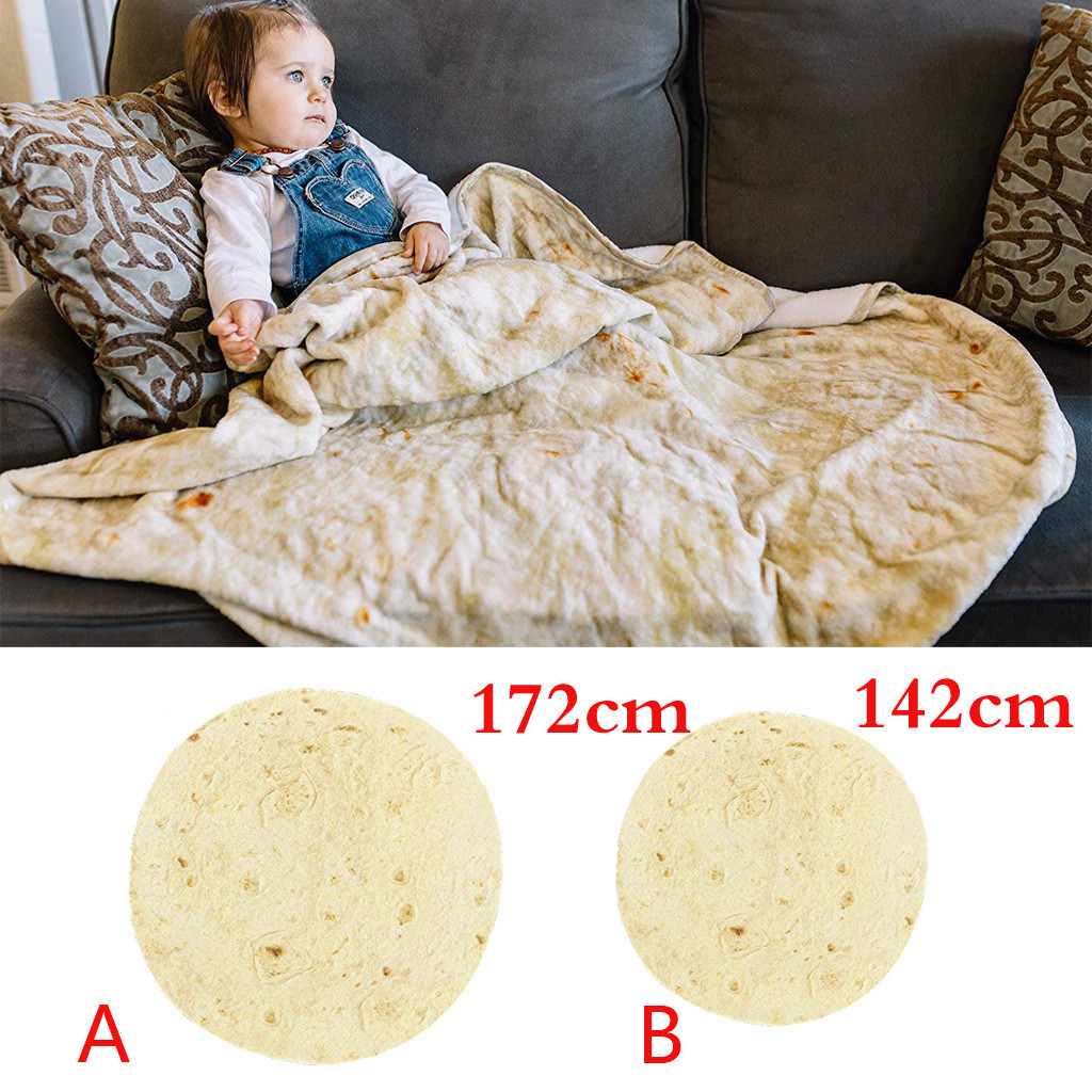 Brave New Round Blanket 152cm 1pc Comfort Food Creations Burrito Wrap Blanket Round Bathroom Carpet Blankets Diversified In Packaging Bag Parts & Accessories