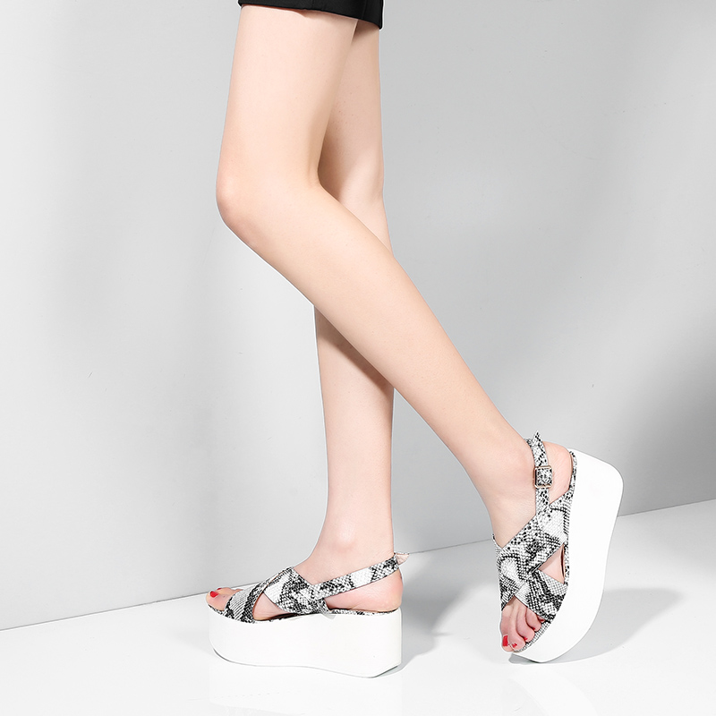 2019 брендовая качественная роскошная женская обувь из натуральной кожи на плоской платформе женские повседневные вечерние летние сандалии ...