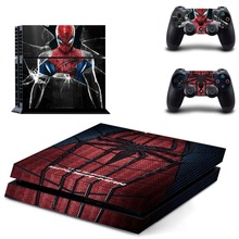 Spiderman Whole Body Vinyl Skin Sticker Decal Cover for PS4 Playstation 4 System Console and Controllers