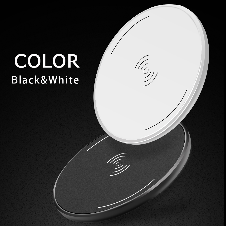 CinkeyPro Wireless Charger Charging Pad for iPhone 8 10 X Samsung S7 S8 5V:1A Adapter Charge Mobile Phone QI Device Universal 2