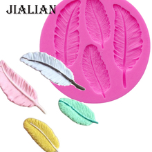 Birds Feathers chocolate DIY fondant cake decorating tools lace border silicone mold kitchen baking utensils T0057
