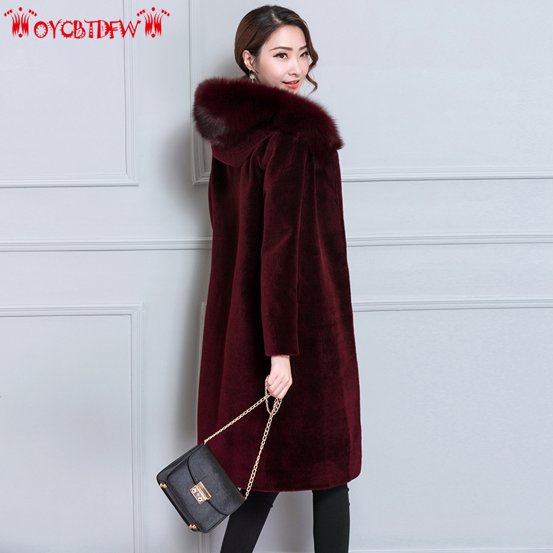 Winter Overcoat Women 2017 Fashion New Solid Color Plus Size Mid Long Single breasted Hooded Warm
