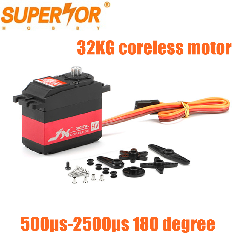 JX PDI-HV5932MG 32KG 180 degree Metal Gear coreless motor High Voltage Digital Coreless Standard Servo