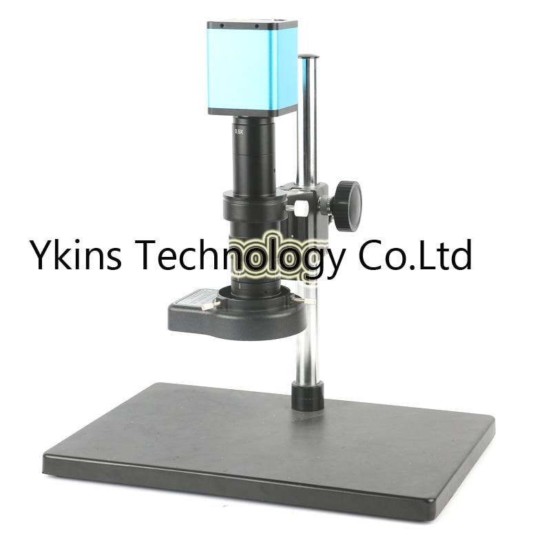 Controle do mouse 1080 p SONY SENSOR DE 60FPS IMX290 Indústria Microscópio Câmera de Vídeo HDMI + 180X 300X Zoom Da Lente para o Telefone reparação PCB