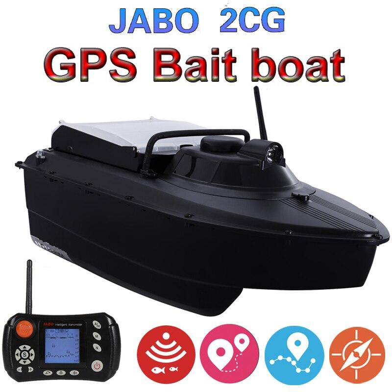Bateau d'appât de détecteur de poissons de Sonar de GPS de pilote automatique amélioré JABO 2CG 20A GPS bateau d'appât de pêche de retour automatique avec la garde d'hélice en métal