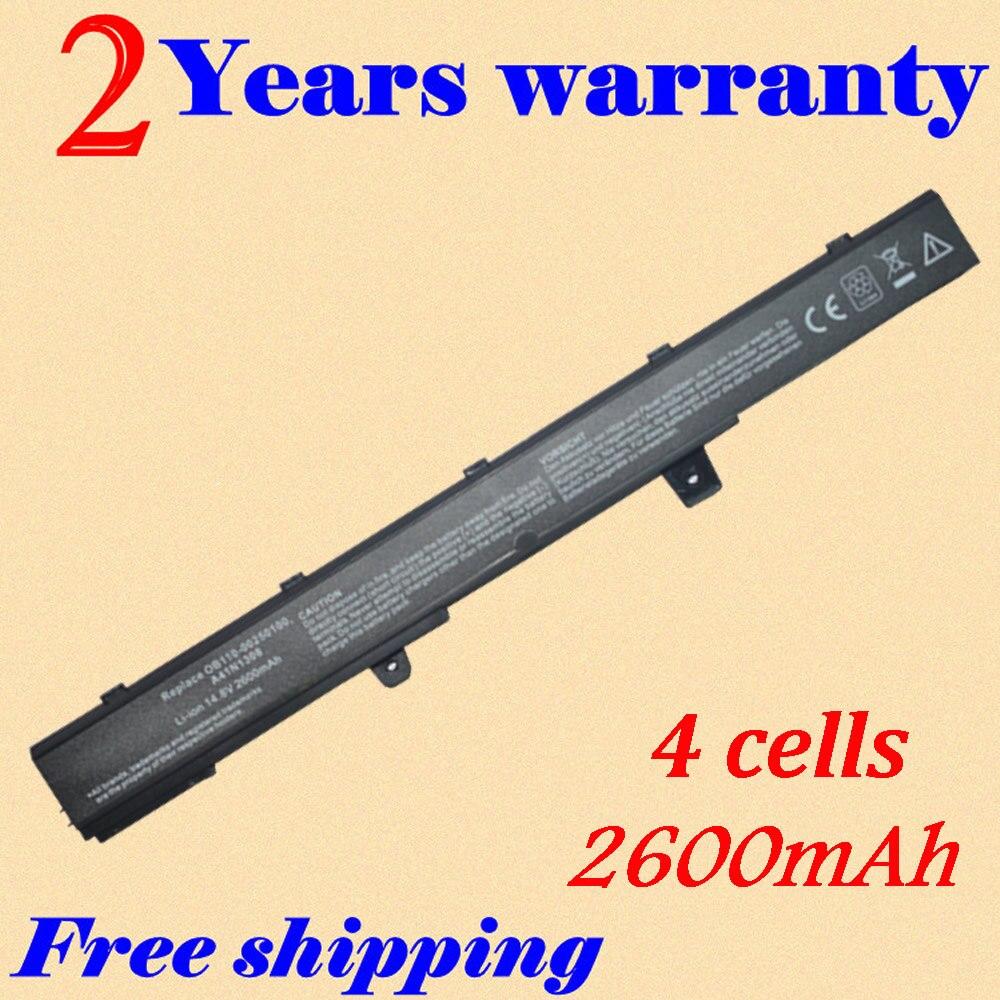 Electronic world'store JIGU 14.8V 2600MAH Laptop Battery A41N1308 A31N1319 0B110-00250100 X551C X551CA For Asus X451 X551 X451C X451CA Series 4cells