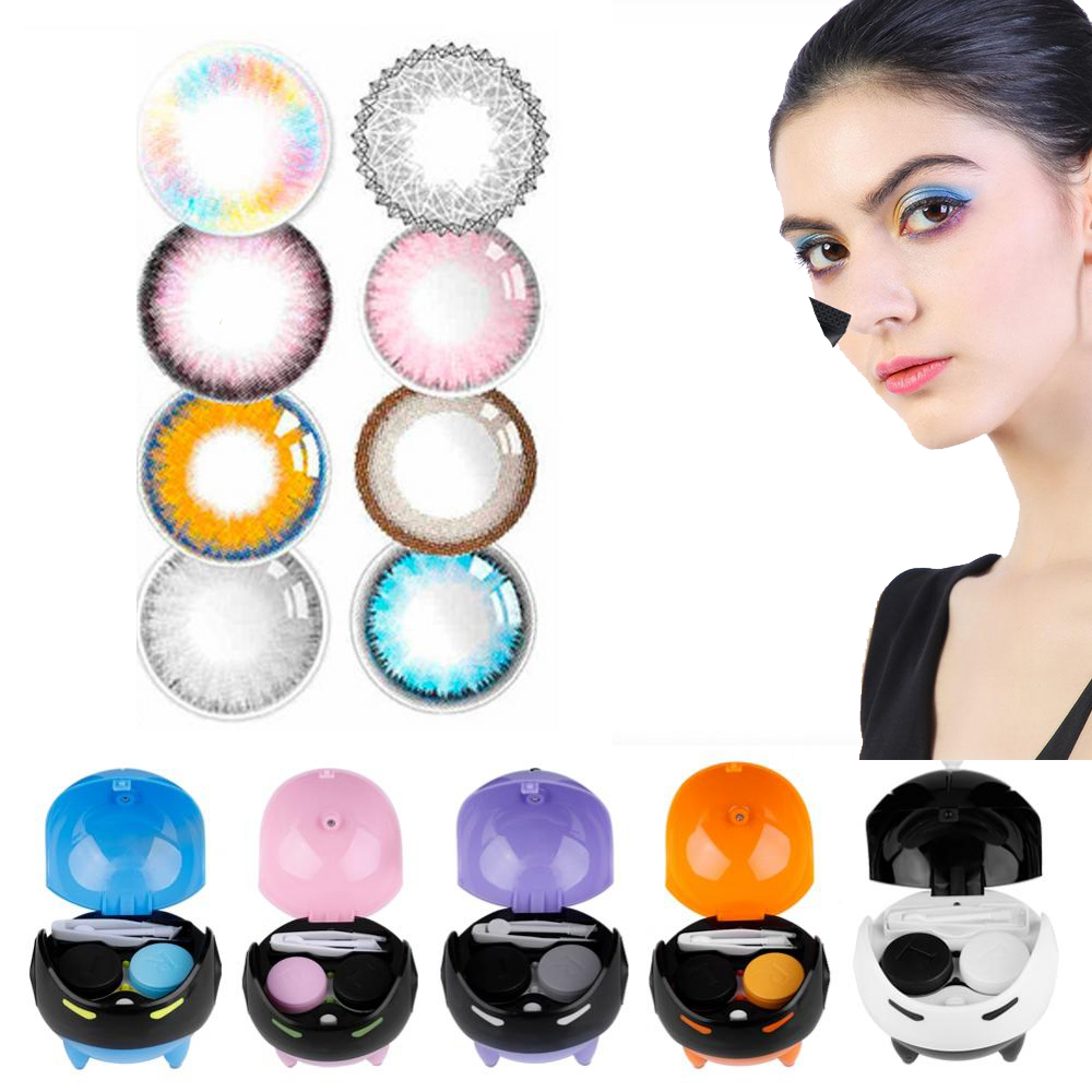 5 Colors Portable Contact Lens Boxes Holder USB Washer Automatic Cleansing Lenses Cleaning Lenses Case Cleaning Container Makeup