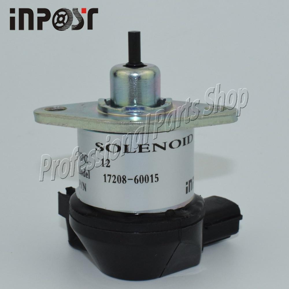 Hot Sale 17208 60010 60015 12v Fuel Shut Off Solenoid For Kubota D1105 Wiring Diagram D905 D1005