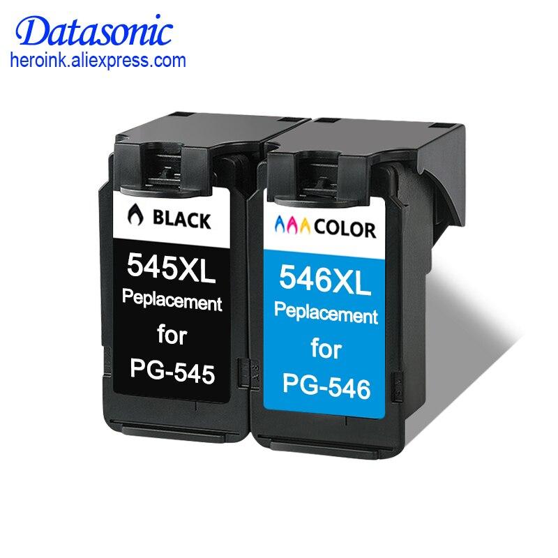 Lot de 2 cartouches d'encre PG545 CL546 XL PG 545 CL 546 adaptées aux imprimantes Canon IP 2850/MX495/MG2950/MG2550/MG2450