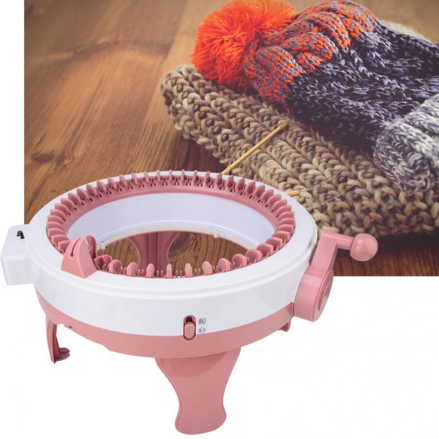 2019 DIY Kinder Kunststoff Hand Stricken Nähen Maschine Rosa Farbe Kinder Weben Spielzeug Set Werkzeug Zubehör (48 Nadeln)-in Nähwerkzeuge & Zubehör aus Heim und Garten bei  Gruppe 1