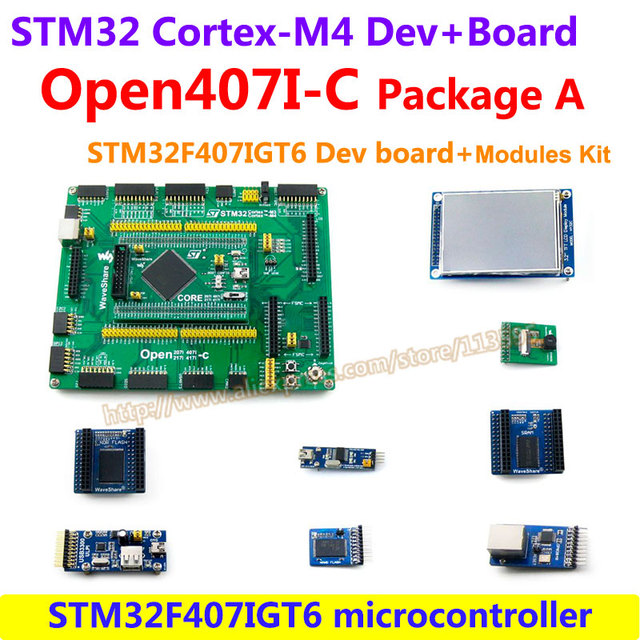 STM32 Борту STM32F407IGT6 STM32 ARM Cortex-M4 Совет По Развитию + PL2303 USB UART Модуль + 3.2 inch LCD = Open407i-с Пакет а