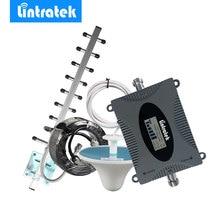 Lintratek Repetidor LTE 4G AWS 1700MHz, amplificador de señal de banda 4, pantalla LCD, GSM 1700, Kit de amplificador de señal de teléfono móvil *