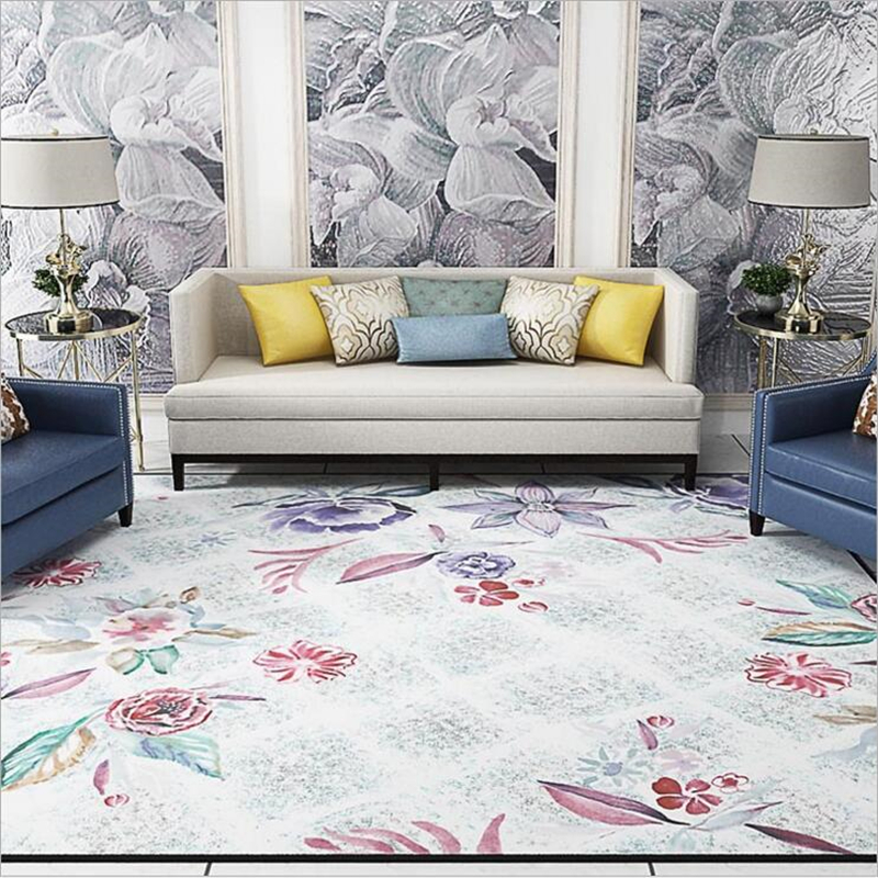 Living Room Decorating Design Carpet Or Rug For Living: Traditional Chinese Style Orignal Design Floral Large