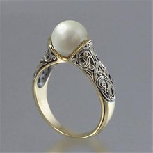 Pearl Ring Silver 925 Jewellery Costume Jewelry The King Of The Ring Gives A Gift To A Woman Stainless Ringen Moonstone Ring(China)