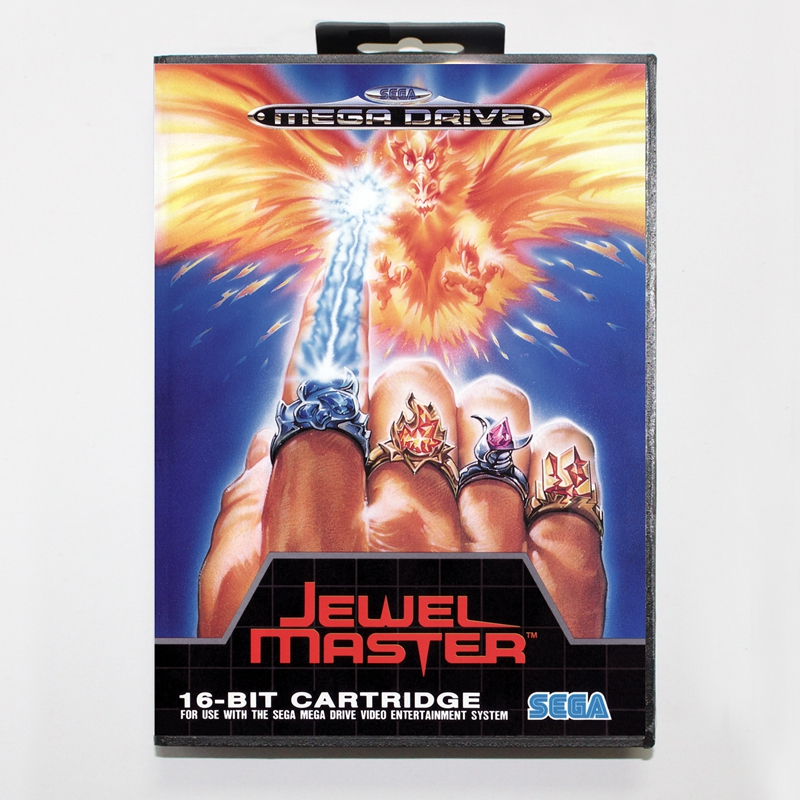 Sega MD games card - Jewel Master with box for Sega MegaDrive Video Game Console 16 bit MD card