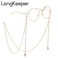 14f77b0a46 Vintage de oro de plata de cristal de cadena de gafas, gafas de sol gafas