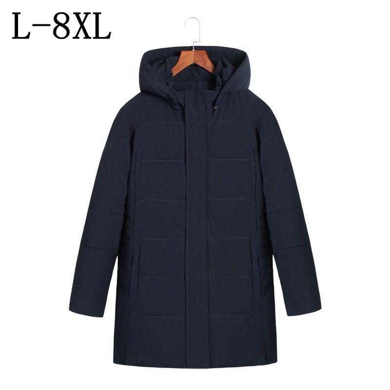 Long Winter Jacket Men 2017 Brand Clothing Mens Jackets Men's Casual Coats Thick Parkas Men Outwear Size 7XL 8XL Hoodie Jacket