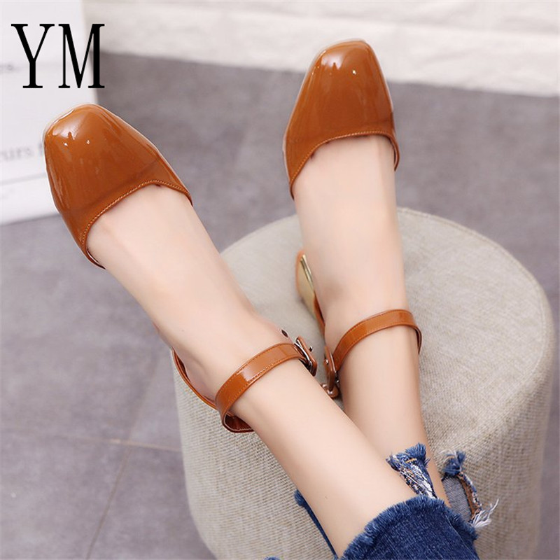 5cm Women Pumps Ankle Strap Thick Heel Women Shoes Square Toe Mid Heels Dress Work Pumps Comfortable Ladies Shoes Zapatos Mujer5cm Women Pumps Ankle Strap Thick Heel Women Shoes Square Toe Mid Heels Dress Work Pumps Comfortable Ladies Shoes Zapatos Mujer