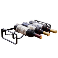 ORZ Wine Rack Beer Bottle Holder Assemble Metal Wine Stand Kitchen Bar Decor Storage Shelf Gifts Present for Wedding