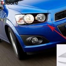 Для Chevrolet Aveo 2011 2012 2013 хромированный передний головной светильник, крышка для век, головной светильник, крышка для лампы, отделка автомобиля, Стайлинг, авто аксессуары