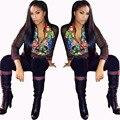 Цветок Печати Женщин Куртки С Брюками Костюмы Мода Повседневная Женщины Осень Наряды Женщин Наборы