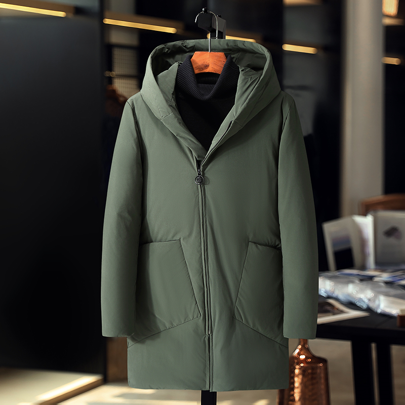 Brand Winter Jacket Men High Quality White Duck   Down   Jacket Goose Feather Thicken Windproof   Down     Coat   Men