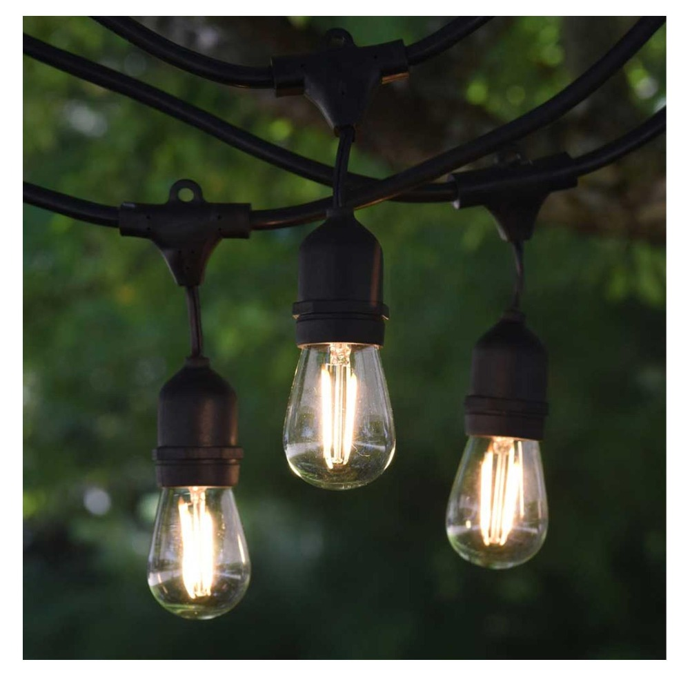 10M S14 Outdoor String Lights LED Heavy Duty Commercial Grade String Lights Patio Cafe Pergola Rope String Backy Cafe string