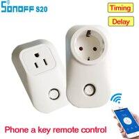 Itead Sonoff S20 Wifi Smart Socket Smart Home Wireless Remote Control Timer Socket EU 10A 2200W