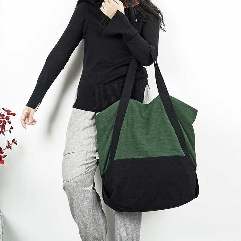 Новые женские большие холщовые сумки из хлопка и льна женские сумки  повседневные винтажные сумки на плечо 06f194f72f0dc